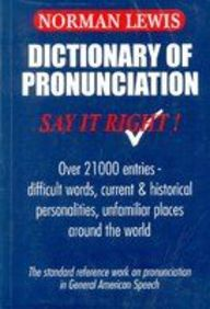 Dictionary Of Pronunciation