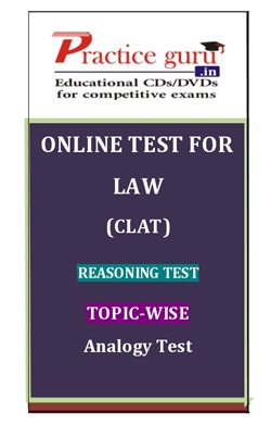 Online Test for Law: CLAT: Reasoning Test: Topic-Wise: Analogy Test