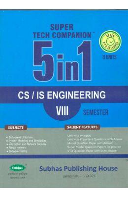 Cs/Is Engineering 8 Sem : Super Tech Companion 5 In 1 Vtu