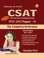 CSAT Civil Services Preliminary Exam UPSC IAS: The Complete Reference Solved Papers 2011 - 2012, Free Mock Test (Paper - 2) 7th  Edition price comparison at Flipkart, Amazon, Crossword, Uread, Bookadda, Landmark, Homeshop18