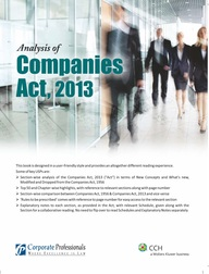 Analysis of Companies Act, 2013