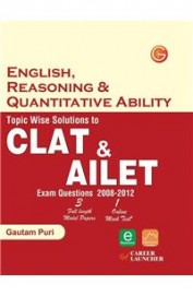 Topic Wise Solutions to CLAT & AILET: English, Reasoning & Verbal Ability Exam Questions (2008 - 2012) 6th  Edition price comparison at Flipkart, Amazon, Crossword, Uread, Bookadda, Landmark, Homeshop18